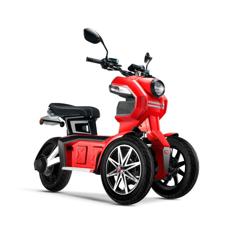 Rode Doohan iTank elektrische driewieler