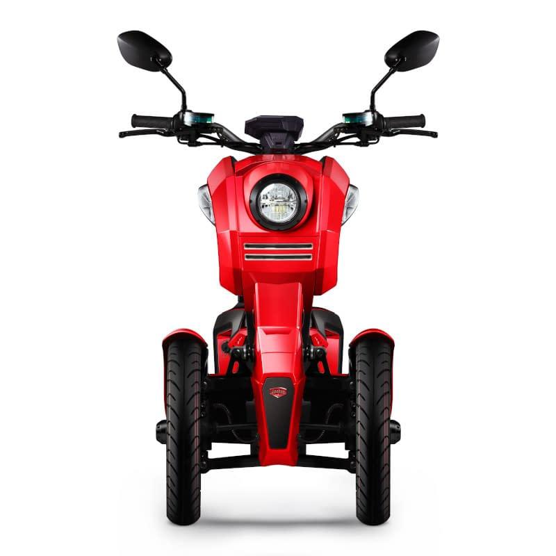 Voorkant rode iTank e-driewieler