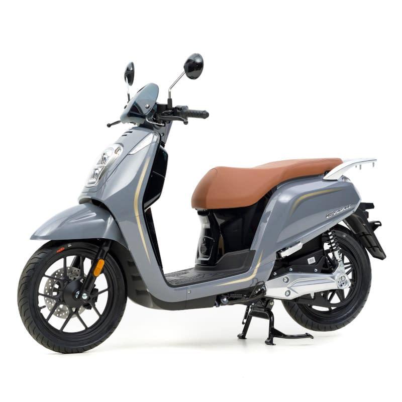 Zijkant grijze E-Viball e-scooter