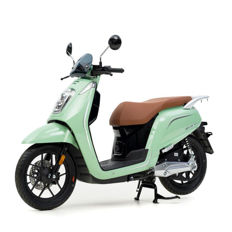 Zijkant groene E-Viball e-scooter