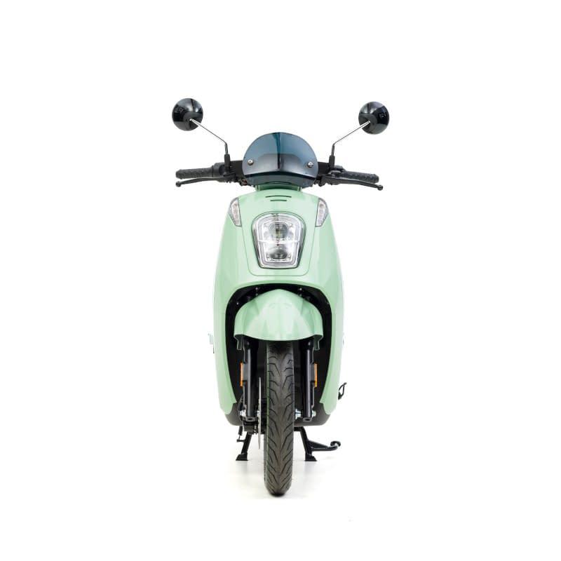 Voorkant groene E-Viball e-scooter