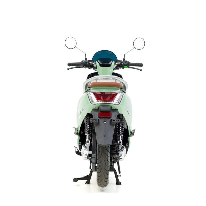 Achterkant groene E-Viball e-scooter