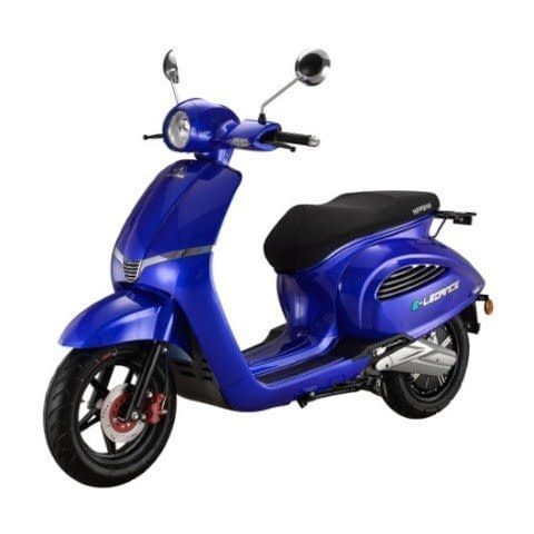 E-Legance e-scooter Donkerblauw linkerkant