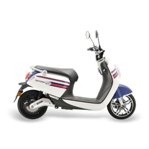 escooter Volty wit blauw mat