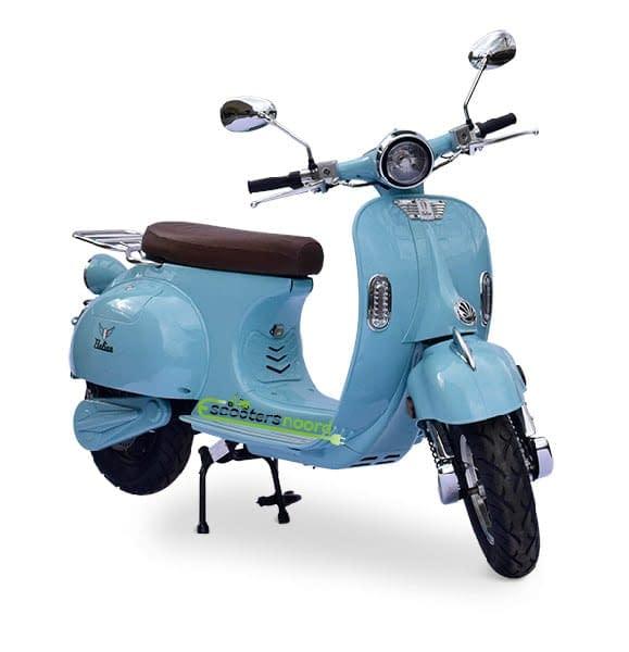 Blauwe Etalian elektrische scooter