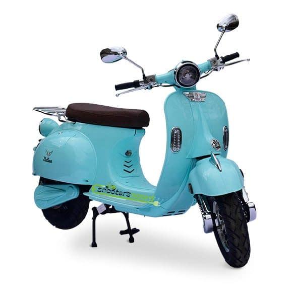 Mintgroene Etalian elektrische scooter