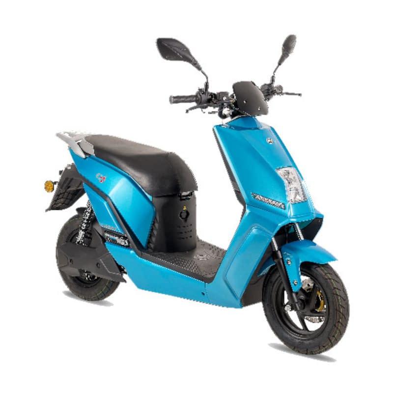 Blauwe elektrische scooter