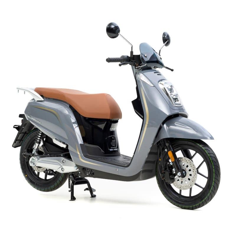 Grijze E-Viball elektrische scooter