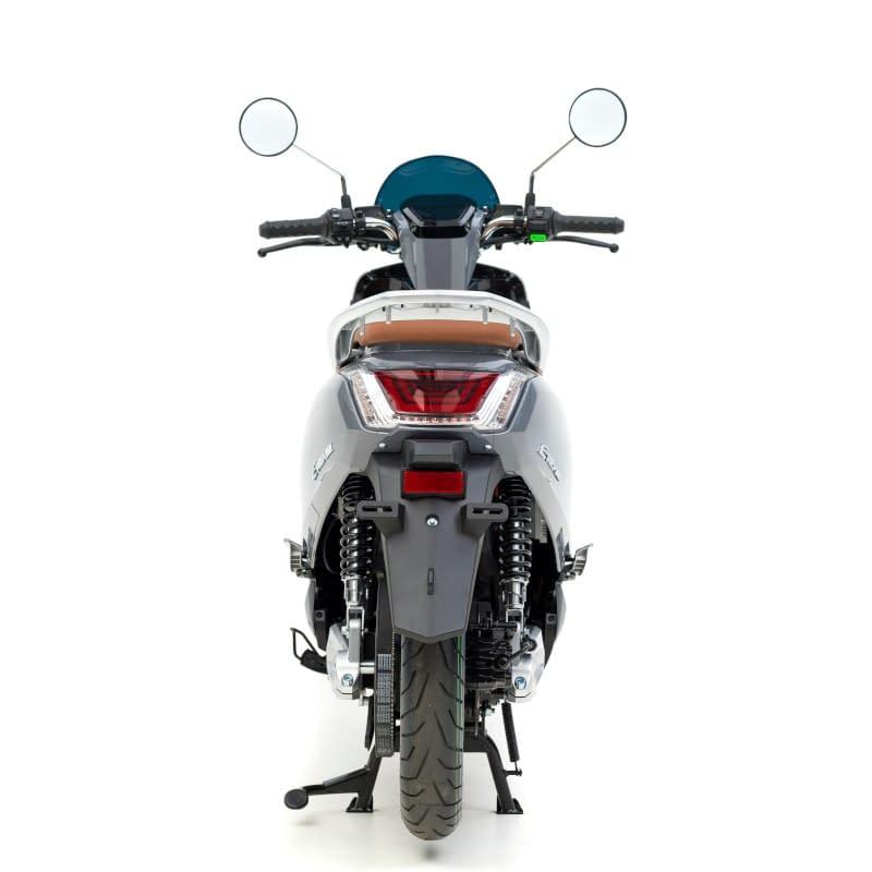 Achterkant E-Viball scooter grijs