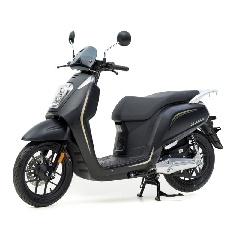 Zijkant matzwarte E-Viball elektrische scooter
