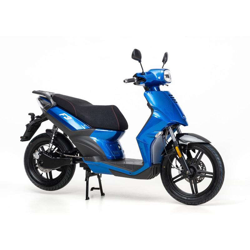 Blauwe F3 elektrische scooter