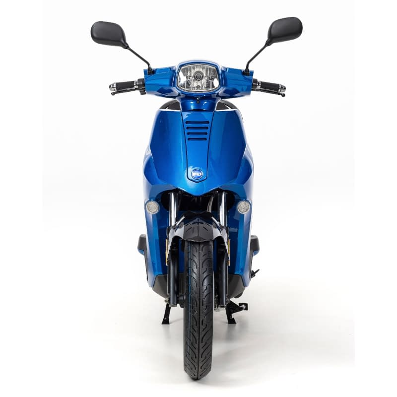 Voorkant F3 e-scooter blauw